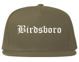 Birdsboro Pennsylvania PA Old English Mens Snapback Hat Grey