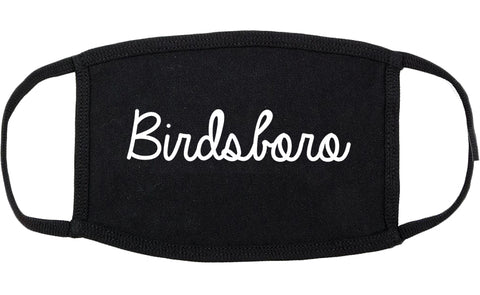 Birdsboro Pennsylvania PA Script Cotton Face Mask Black