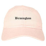 Birmingham Alabama AL Old English Mens Dad Hat Baseball Cap Pink