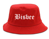 Bisbee Arizona AZ Old English Mens Bucket Hat Red