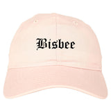 Bisbee Arizona AZ Old English Mens Dad Hat Baseball Cap Pink