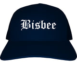 Bisbee Arizona AZ Old English Mens Trucker Hat Cap Navy Blue