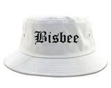Bisbee Arizona AZ Old English Mens Bucket Hat White