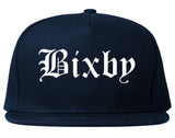 Bixby Oklahoma OK Old English Mens Snapback Hat Navy Blue