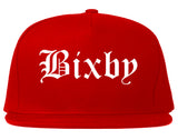 Bixby Oklahoma OK Old English Mens Snapback Hat Red