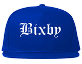 Bixby Oklahoma OK Old English Mens Snapback Hat Royal Blue