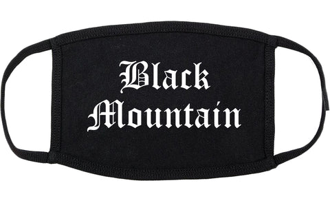 Black Mountain North Carolina NC Old English Cotton Face Mask Black
