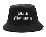 Black Mountain North Carolina NC Old English Mens Bucket Hat Black