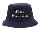 Black Mountain North Carolina NC Old English Mens Bucket Hat Navy Blue
