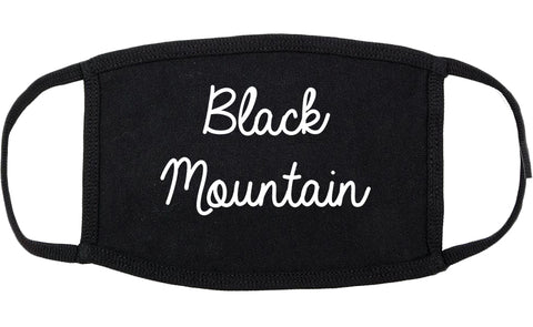 Black Mountain North Carolina NC Script Cotton Face Mask Black