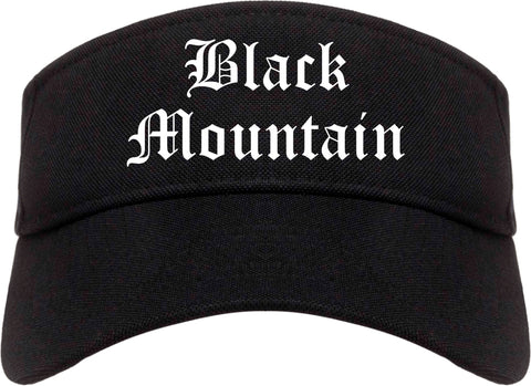 Black Mountain North Carolina NC Old English Mens Visor Cap Hat Black