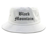 Black Mountain North Carolina NC Old English Mens Bucket Hat White