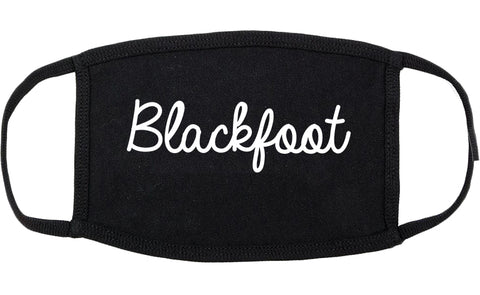 Blackfoot Idaho ID Script Cotton Face Mask Black