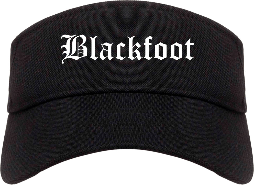 Blackfoot Idaho ID Old English Mens Visor Cap Hat Black