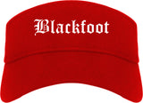 Blackfoot Idaho ID Old English Mens Visor Cap Hat Red