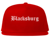 Blacksburg Virginia VA Old English Mens Snapback Hat Red