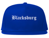 Blacksburg Virginia VA Old English Mens Snapback Hat Royal Blue