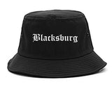 Blacksburg Virginia VA Old English Mens Bucket Hat Black