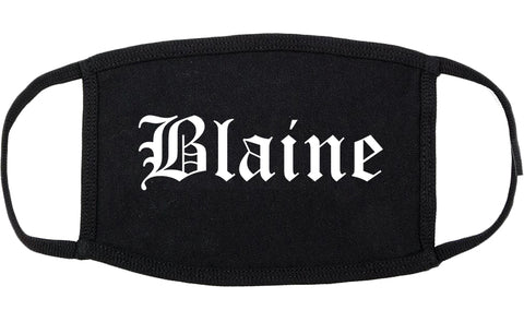 Blaine Minnesota MN Old English Cotton Face Mask Black