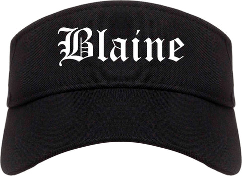 Blaine Minnesota MN Old English Mens Visor Cap Hat Black