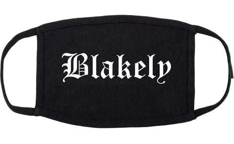 Blakely Georgia GA Old English Cotton Face Mask Black