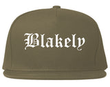 Blakely Pennsylvania PA Old English Mens Snapback Hat Grey