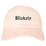 Blakely Pennsylvania PA Old English Mens Dad Hat Baseball Cap Pink