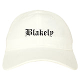 Blakely Pennsylvania PA Old English Mens Dad Hat Baseball Cap White
