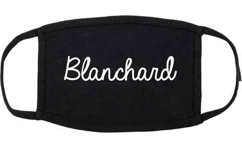Blanchard Oklahoma OK Script Cotton Face Mask Black