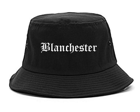 Blanchester Ohio OH Old English Mens Bucket Hat Black
