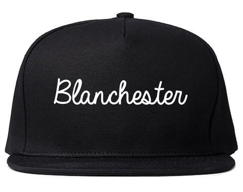 Blanchester Ohio OH Script Mens Snapback Hat Black