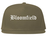 Bloomfield New Mexico NM Old English Mens Snapback Hat Grey