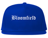 Bloomfield New Mexico NM Old English Mens Snapback Hat Royal Blue