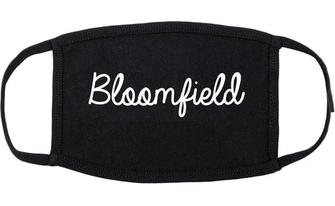Bloomfield New Mexico NM Script Cotton Face Mask Black