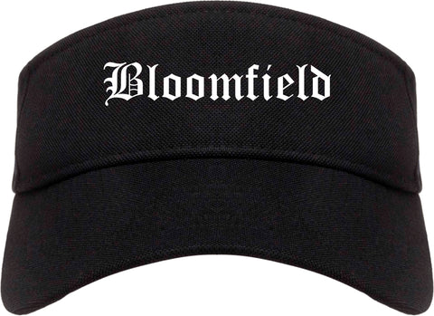 Bloomfield New Mexico NM Old English Mens Visor Cap Hat Black