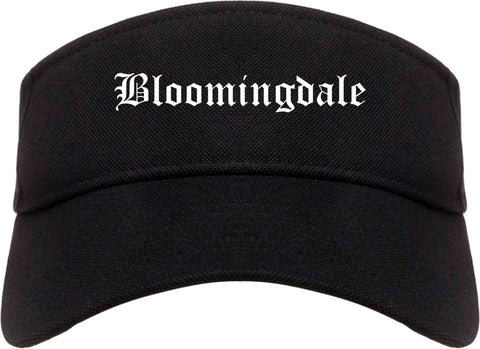 Bloomingdale Illinois IL Old English Mens Visor Cap Hat Black