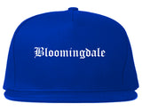 Bloomingdale New Jersey NJ Old English Mens Snapback Hat Royal Blue
