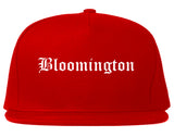 Bloomington Illinois IL Old English Mens Snapback Hat Red