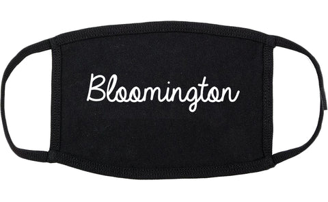 Bloomington Illinois IL Script Cotton Face Mask Black