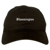 Bloomington Indiana IN Old English Mens Dad Hat Baseball Cap Black