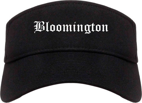 Bloomington Indiana IN Old English Mens Visor Cap Hat Black