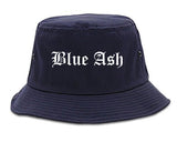 Blue Ash Ohio OH Old English Mens Bucket Hat Navy Blue