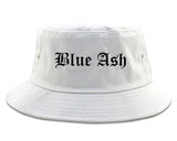Blue Ash Ohio OH Old English Mens Bucket Hat White