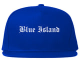 Blue Island Illinois IL Old English Mens Snapback Hat Royal Blue