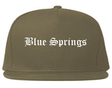 Blue Springs Missouri MO Old English Mens Snapback Hat Grey