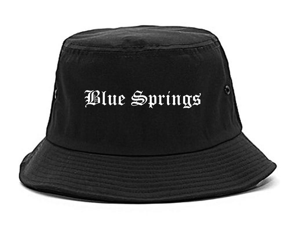 Blue Springs Missouri MO Old English Mens Bucket Hat Black