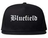 Bluefield Virginia VA Old English Mens Snapback Hat Black