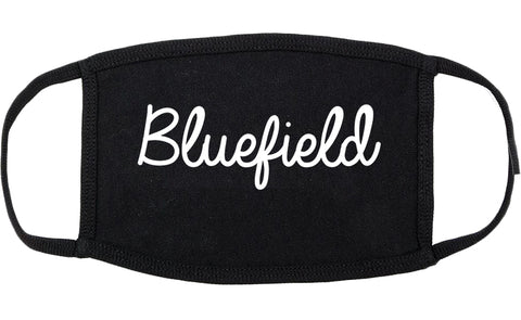 Bluefield Virginia VA Script Cotton Face Mask Black