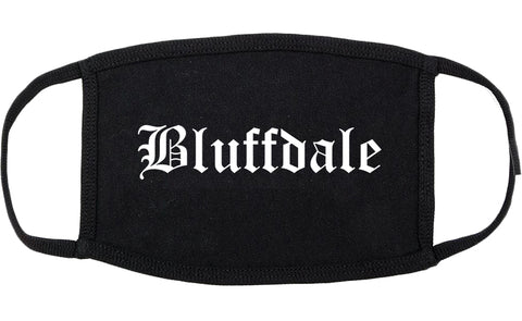 Bluffdale Utah UT Old English Cotton Face Mask Black