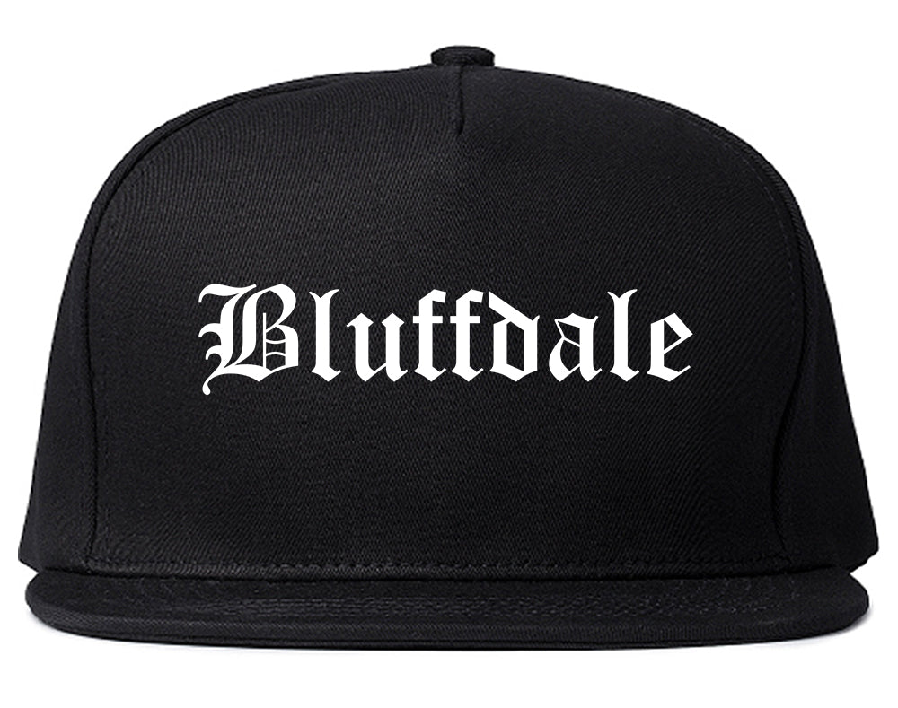 Bluffdale Utah UT Old English Mens Snapback Hat Black